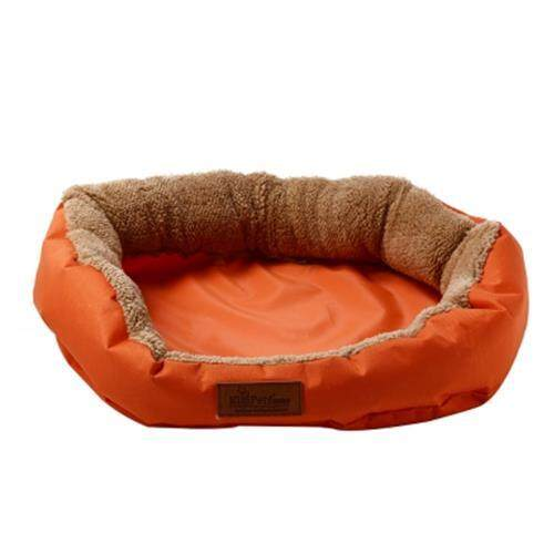 KIMPETS DENIM FABRIC STYLISH WASHABLE PET DOG CAT BED (ORANGE)