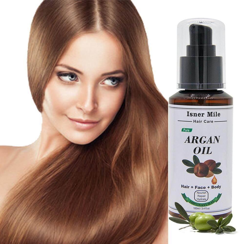 Kobwa AS Organic Moroccan Argan Minyak, Organic 100% Murni Alami Cold Pressed Virgin Perawatan Rambut Minyak, 100 Ml-Internasional