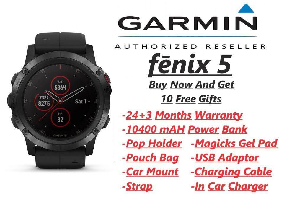 Garmin Fenix 5 sapphire + 10 Free Gift(Smart Watch)