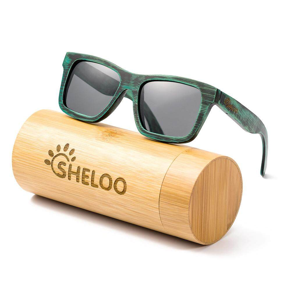 Bergaya Dengan Kacamata Hitam Dengan Uv Candi Bambu 400 Perlindungan ... 766bf1c3a0