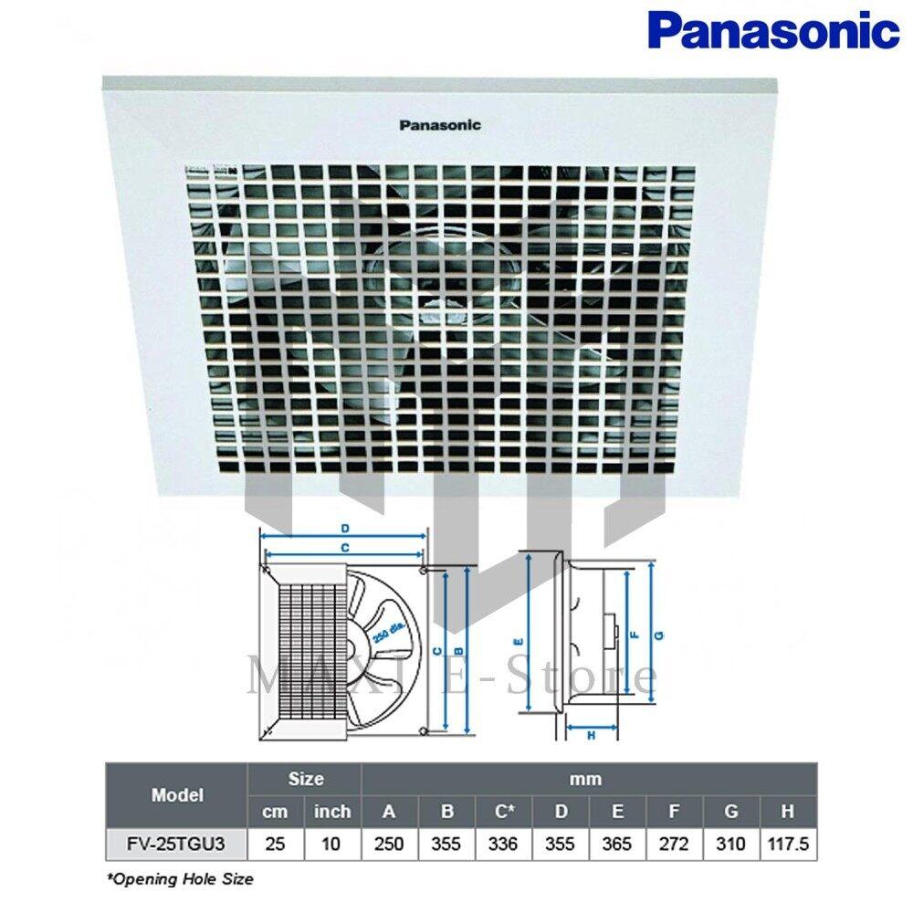 Panasonic Fv25tgu3 Exhaust Fan 10 Ceiling Type