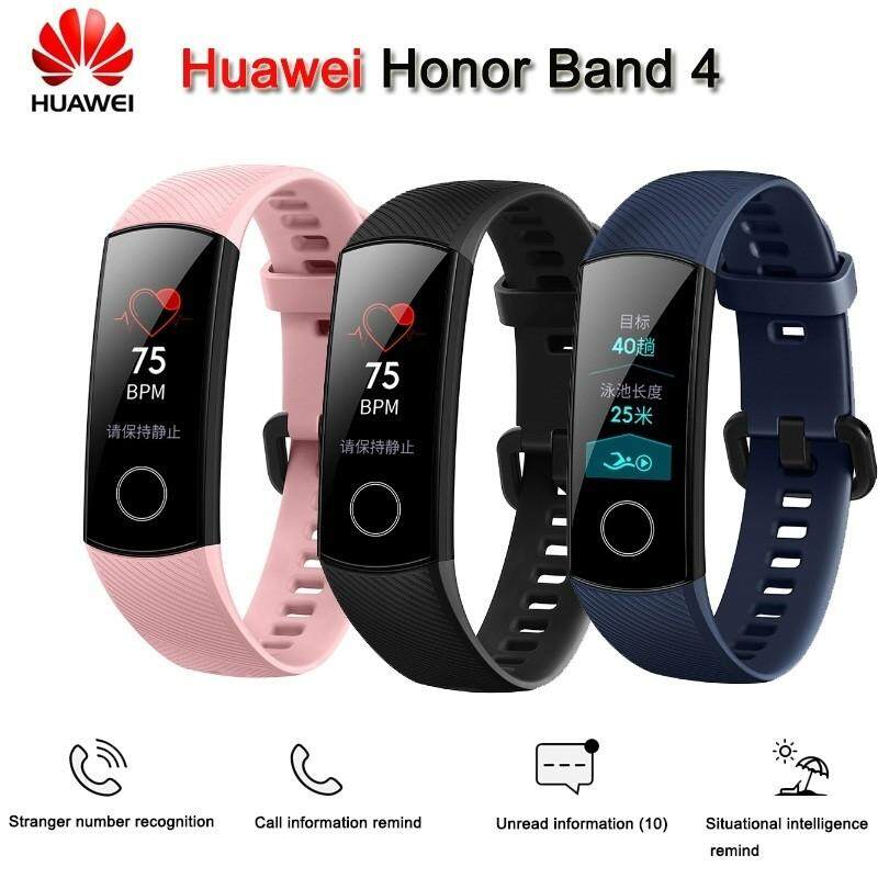 100%Original Huawei Honor Band 4 Amoled Smart Wristband Color Touchscreen honor band 4 black