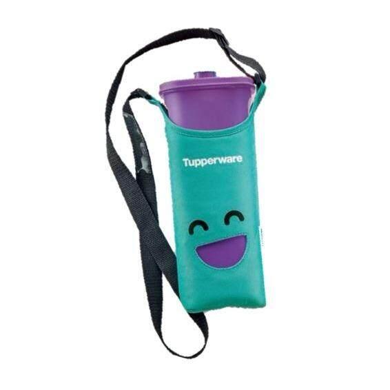 Tupperware Smiley Bottles (1) 2.0L (Purple) + Pouch (Green)