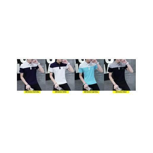 (Pre Order ETA End Feb 2021 CNY Break)(Pre Order ETA 14/2) Korean Style Men Polo Shirt Collection 303-998 (Bottom White)(ETA: 2021-12-31)