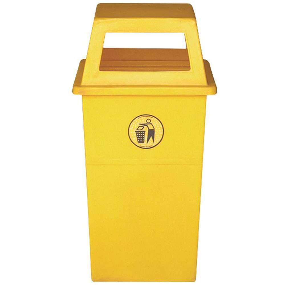 Leader 60Litres Multi-Purpose Golden Polyethylene Garbage Wastebin Dustbin Rubbish Trash without Ashtray / Tong Sampah Serbaguna