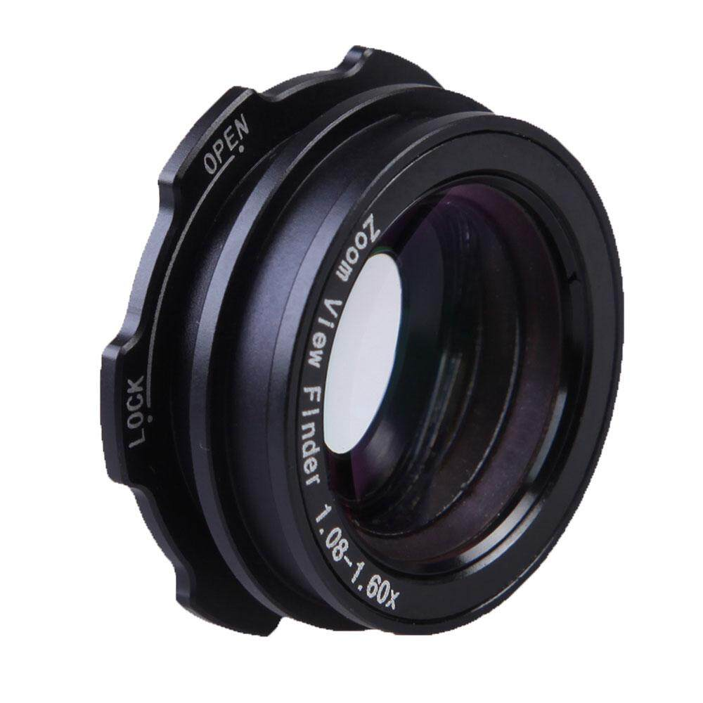 jinma 1.08-1.60X Zoom SLR Viewfinder Eyepiece Magnifier For Canon Nikon Sony(Black)