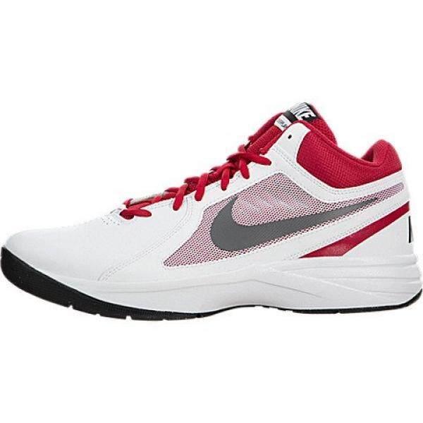 Nike Mens The Overplay VIII White/Mtlc Drk Gry/Unvrsty Basketball Shoe en US - intl