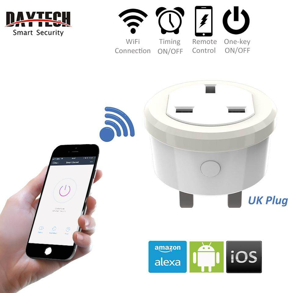 DAYTECH Smart Socket Outlet WiFi Phone APP IOS Android Remote Control Work With Amazon Alexa UK Plug(1PCS/2PCS/3PCS/5PCS)