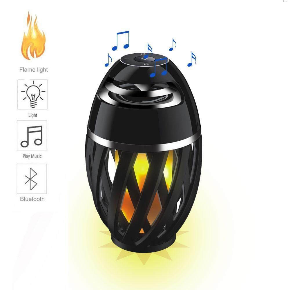 Oanda Mini Portabel LED Flame Meja Lampu Bluetooth Pembicara Suasana Lampu-Internasional
