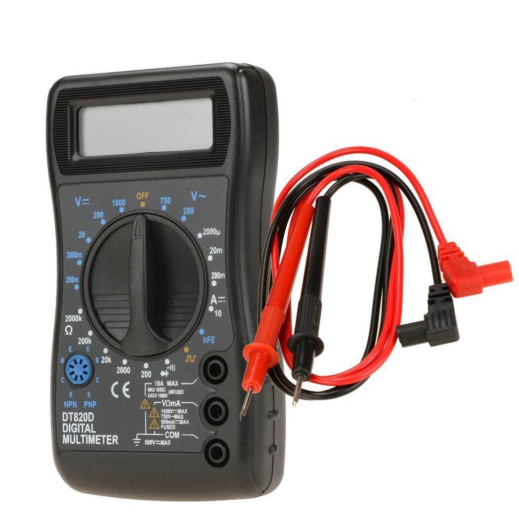 LCD Digital Multimeter AC DC Volt Ohm Amp Tester Meter