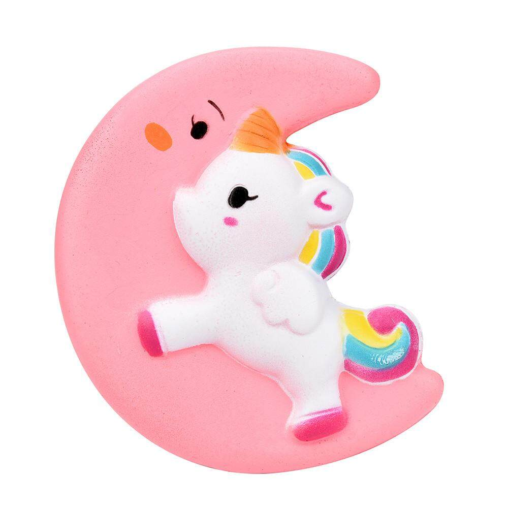Squishy Cute Moon Unicorn Scented Cream Slow Rising Squeeze Decompression Toys Greatsell - Intl By Greatsell.