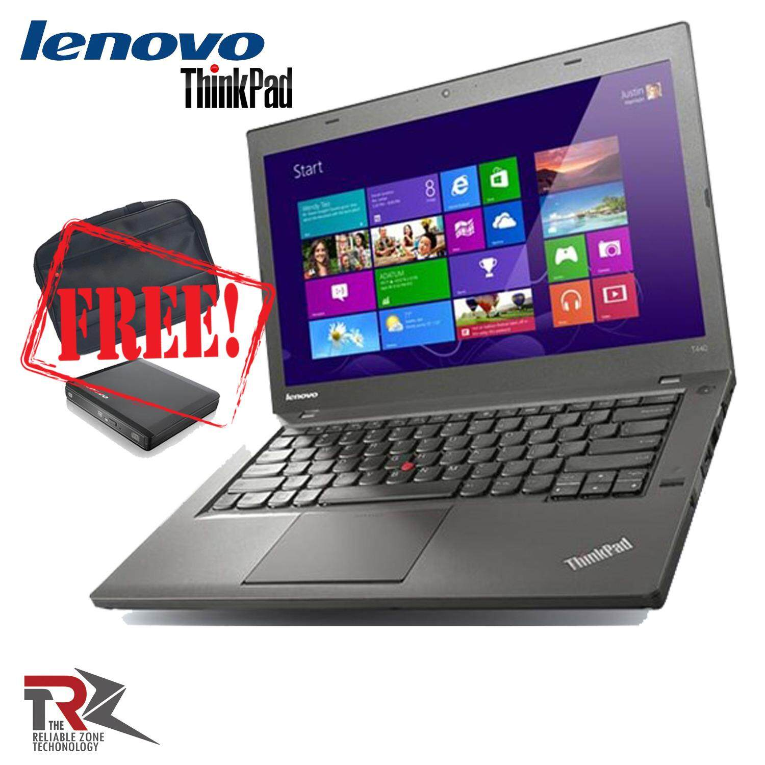 LENOVO ThinkPad X240 - 12.5inch - Intel Core i5-4300U - 4GB RAM - 500GB HDD - EXTERNAL DVD- RW - WINDOWS 7 PRO 64 BIT ( FREE EXTERNAL DVD RW AND LENOVO CARRY CASE FREE) Malaysia
