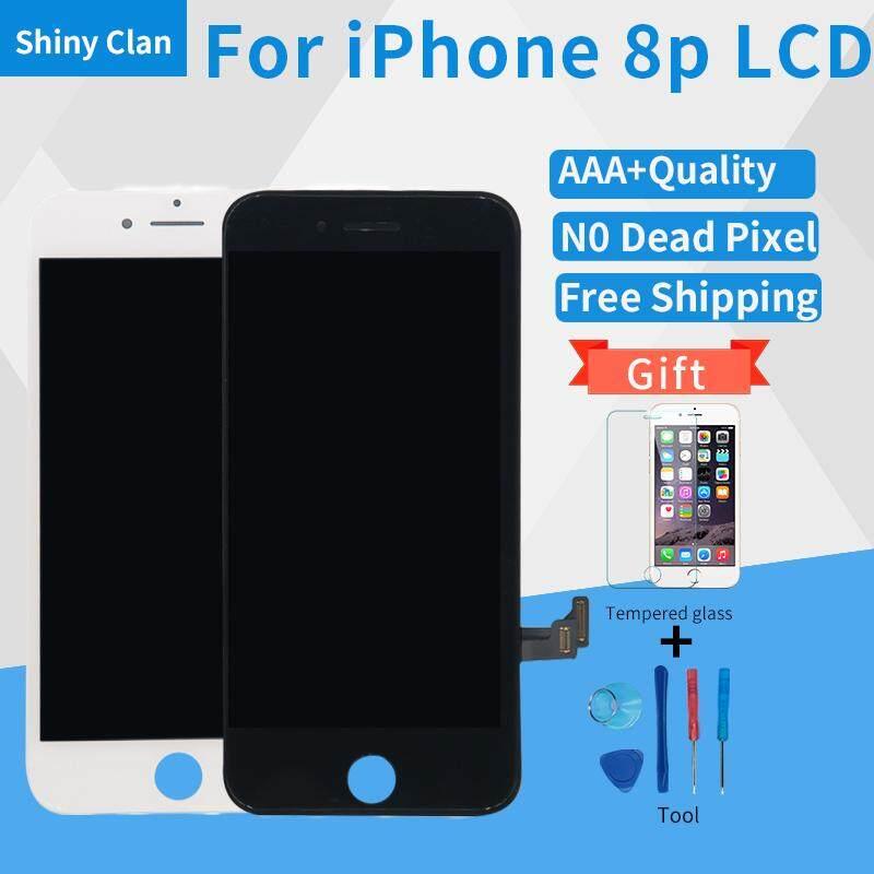 Tidak Ada Pixel Yang Mati LCD untuk iPhone 8 PLUS LCD Layar Sentuh Digitizer untuk Telepon