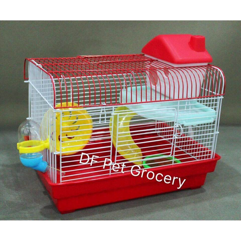 Hamster Cage 33cm X 24cm X 28cm High - Random Color (M004)