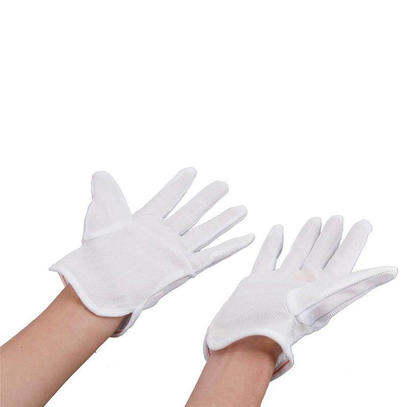 NEW 10 Pair ESD PC Computer Working Antiskid Anti-static Anti-skid White Gloves New Polyester Hot Sale - intl