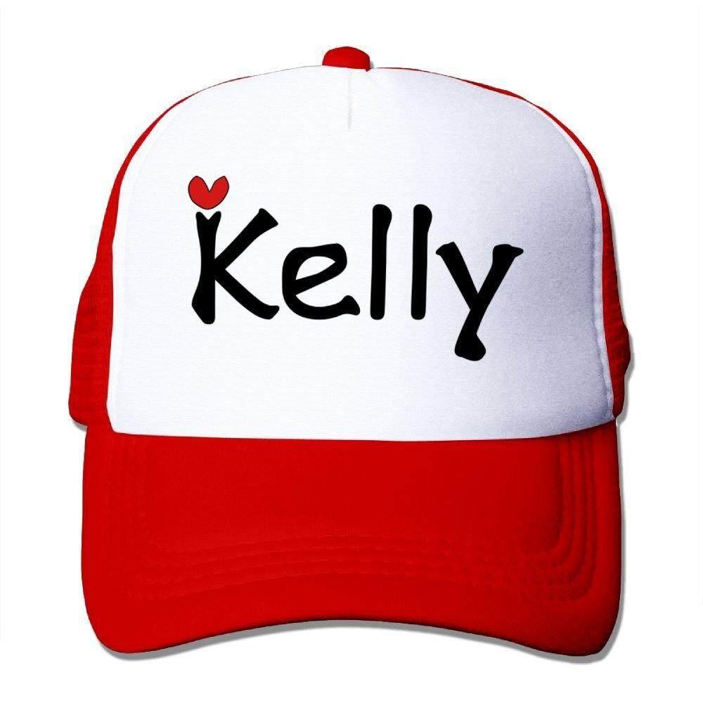 Oonongfu Nama Kelly Txt Hati Grafis Vektor Garis Seni Besar Jala Busa Topi Mesh Kembali Topi Yang Dapat Disesuaikan-Intl