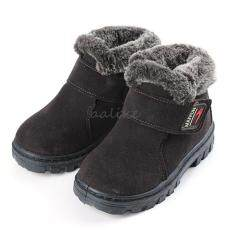 New Girls Boys Winter Warm Boots Kids Children Cotton Leather Shoes Snow Boots Coffee