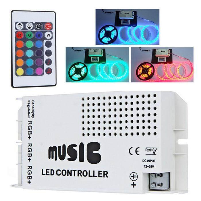 24 Kunci IR Nirkabel RGB LED Strip Ringan Musik Suara Pengendali Dimmer Erpstore-Internasional