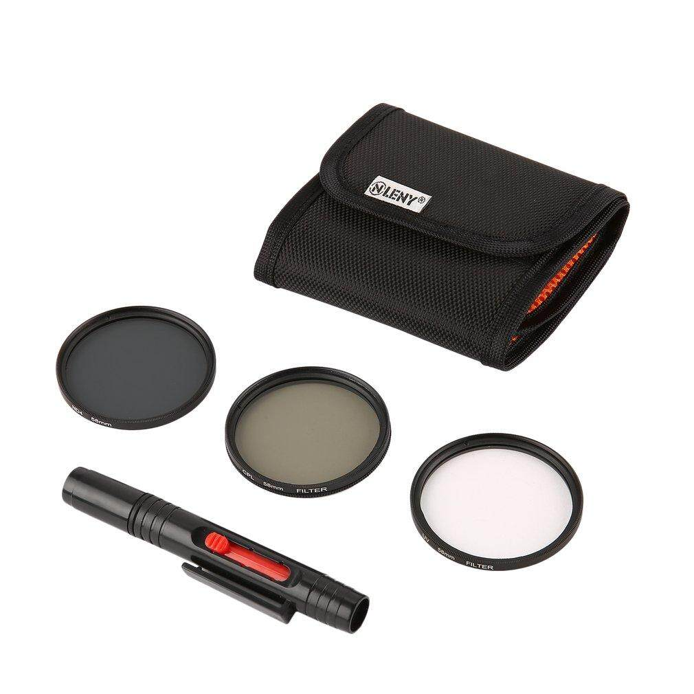 Beau Onleny 58mm UV CPL ND4 Filter Storage Bag+Cleaning Pen 5pcs Kit - intl