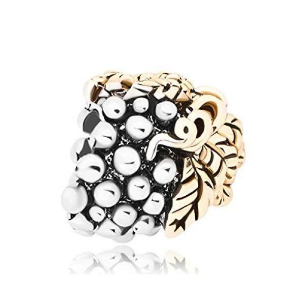Pugster 14 K Emas Berlapis Daun Anggur Pesona Terjual Manik-manik Perhiasan Murah Kompatibel Pandora Pesona Gelang-Internasional