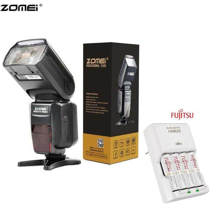 ZOMEI ZM-860T HSS 1/8000S auto ttl Nikon Canon Camera Flash with Fujitsu basic Charger Battery Set
