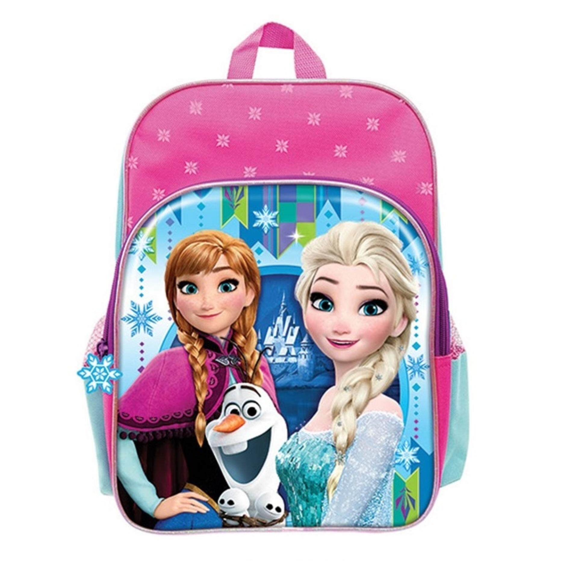 Disney Princess Frozen Backpack School Bag 12 Inches - Pink Colour
