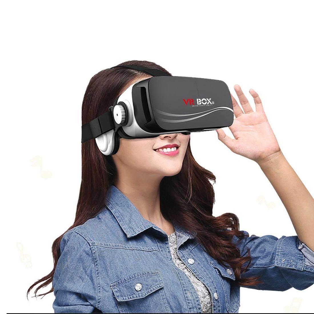 Hình ảnh VR BOX III Cú Kính Thực Tế Ảo 3D Tai Nghe VR Box Video cho iPhone, Samsung Huawei, xiaomi năm 4.5 inch-5.5 inch Android và iOS và Windows Điện Thoại Thông Minh-quốc tế