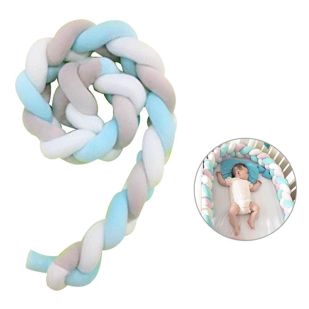 Buy Niceeshop Braided Crib Bumper Knot Pillow Knot Hand Woven Pillow Cushion Junior Bed Sleep Bumper For Baby 1M Long Intl Online China