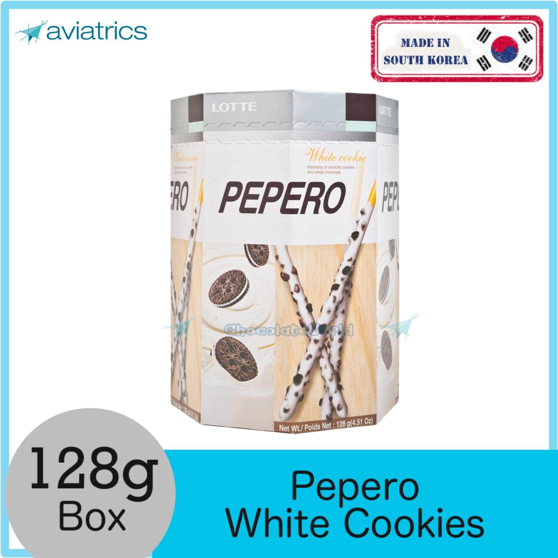 Lotte Pepero White Cookies 128g (Made in Korea)