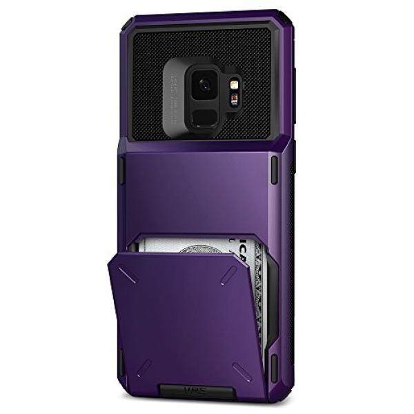 Galaksi S9 Case:: VRS:: Penuh Badan Pelindung Pelindung:: Hibrida Pemegang Slot Kartu:: identitas Kartu Kredit Dompet Perjalanan untuk Samsung Galaksi S9-Internasional