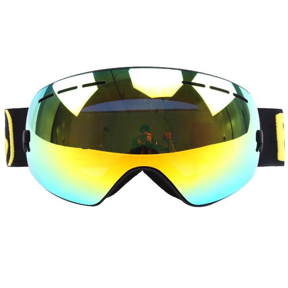 Womdee Kacamata Ski untuk Papan Seluncur Salju Meluncur Mobil Salju Sepeda Motor Berkuda-UV Protection anti Kabut OTG Kacamata Besar Helm Kompatibel untuk Pria Wanita Remaja Anak Laki-laki GADIS-Intl
