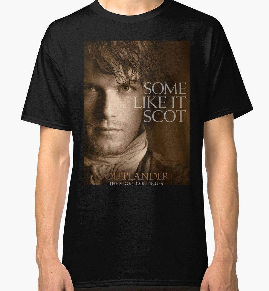 Details about New Jamie Fraser Outlander Men's Black Tees Shirt Clothing Cotton Mens Fashion T Shirts New Design T-shirts - intl