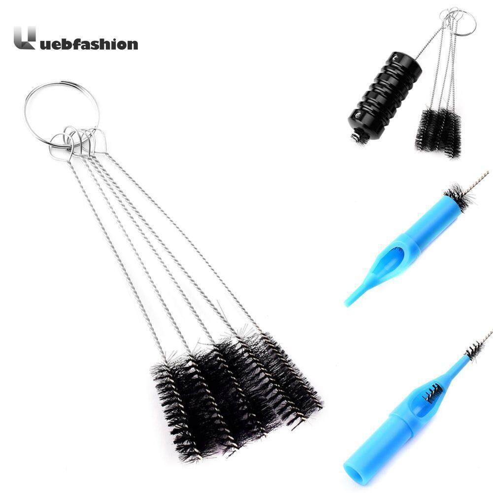 5pcs Tattoo Needle Tip Steel Brushes Kit Set Spray Airbrush Cleaning Tool - intl