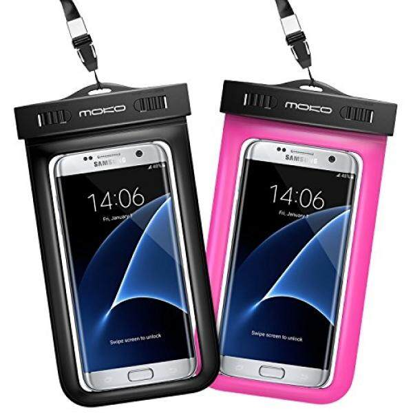 Universal Waterproof Phone Pouch, MoKo IPX 8 Waterproof Phone Case Dry Bag with Armband &