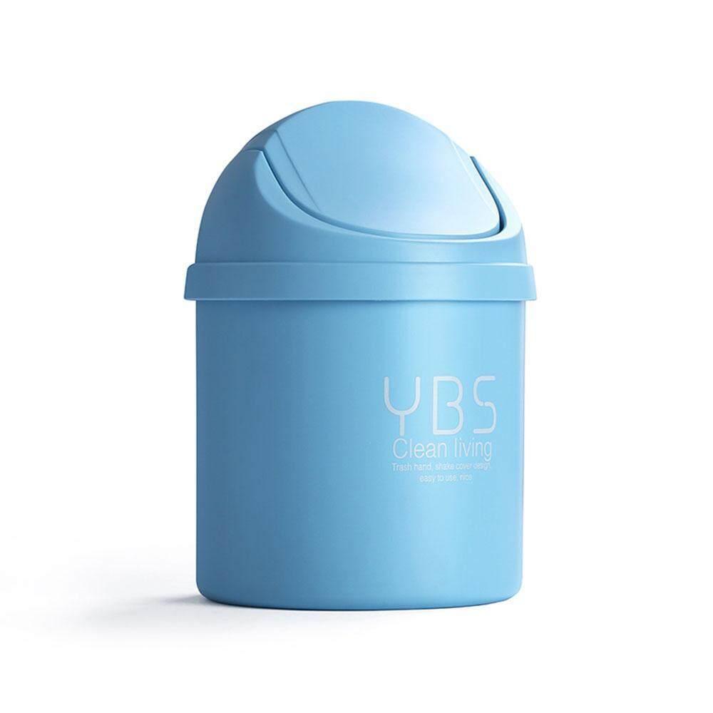 Jiaukon Desktop Trash Kaleng Mini Plastik Meja Kecil Trash Kaleng With Berayun Terbaik Tutup-Internasional