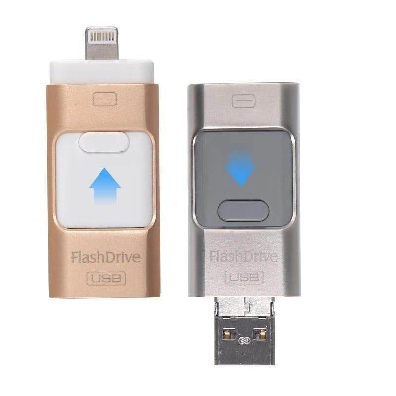 3in1 32GB Metal Phone Pendrive OTG USB Flash Drive for IPhone /Android/Computer