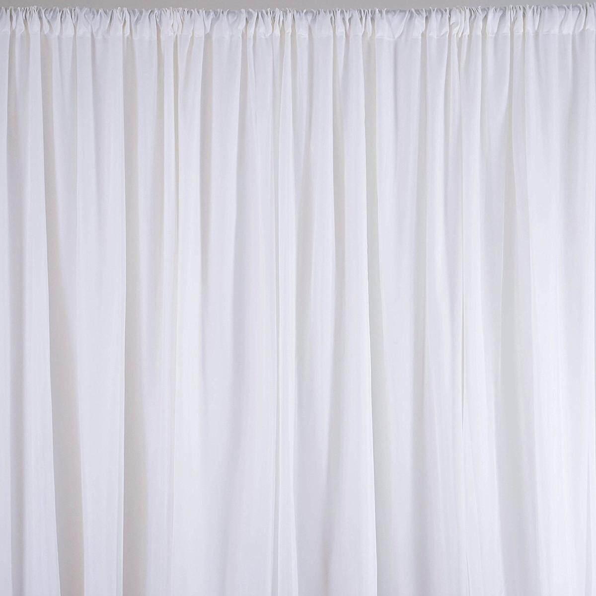 2.4M White Wedding Party Backdrop Curtain Drapes Background Decor Studio Draping