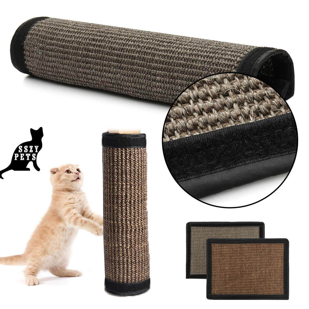 Where Can I Buy Pet Cat Sisal Hemp Pad Scratching Post Toy Board Furniture Protected Mat 40 30Cm Dark Grey Intl