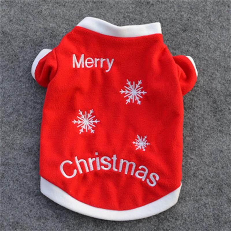 Pet Dog Clothing Dog Warm Clothing Embroidery Christmas S Size By Moonbeam.