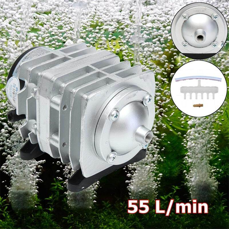 Recent Electromagnetic Air Compressor Air Pump Oxygen Aquarium Fish Tank 55L Min 30W Intl