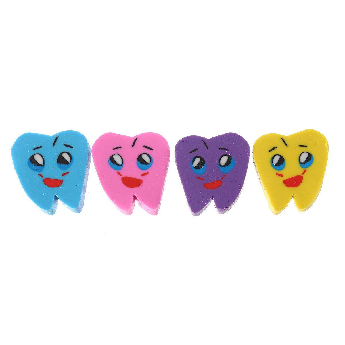 Wholesale Dental Clinic Promotional Gifts Oral Rubber Lovely Tooth Eraser Package 50 By Glimmer.