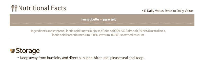 Ivenet Bebe Lactobacillus Salt (130g)