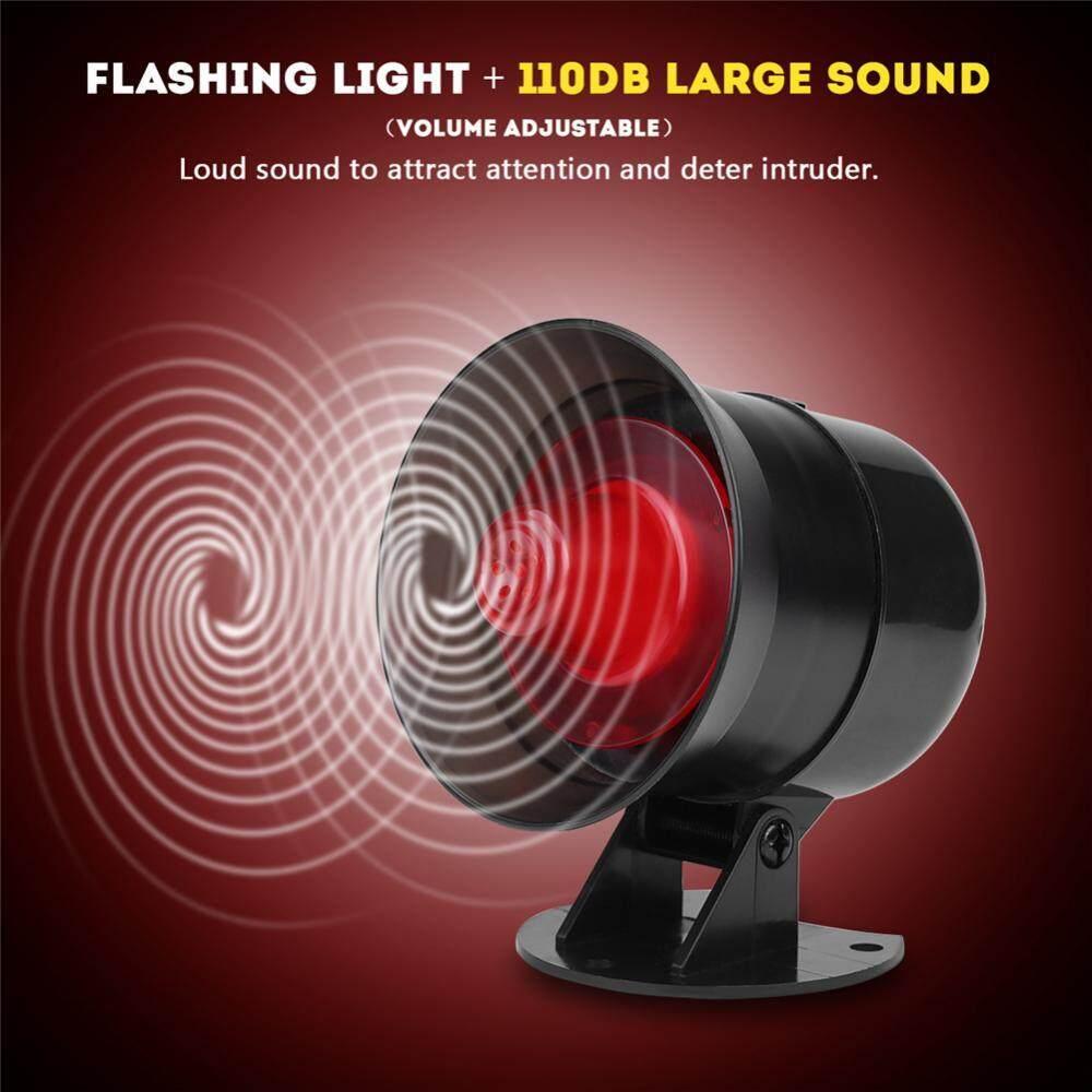Cek Harga Outdoor Wireless Flash Strobe Sound Siren Red Light Alarm Lamp Flashing Automatic Justgogo 110db Home Security System With And Pir Detector Sensor Uk