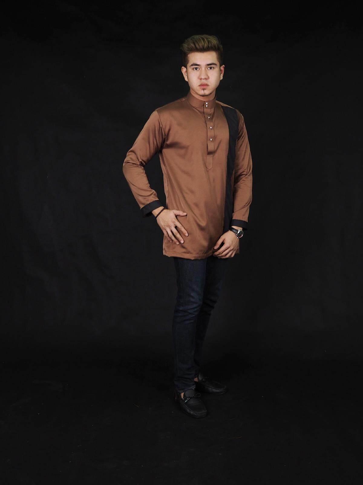 Yuso Satin Kurta / Muslim Men Fashion Trendy Modern Satin Kurta (S-5XL)