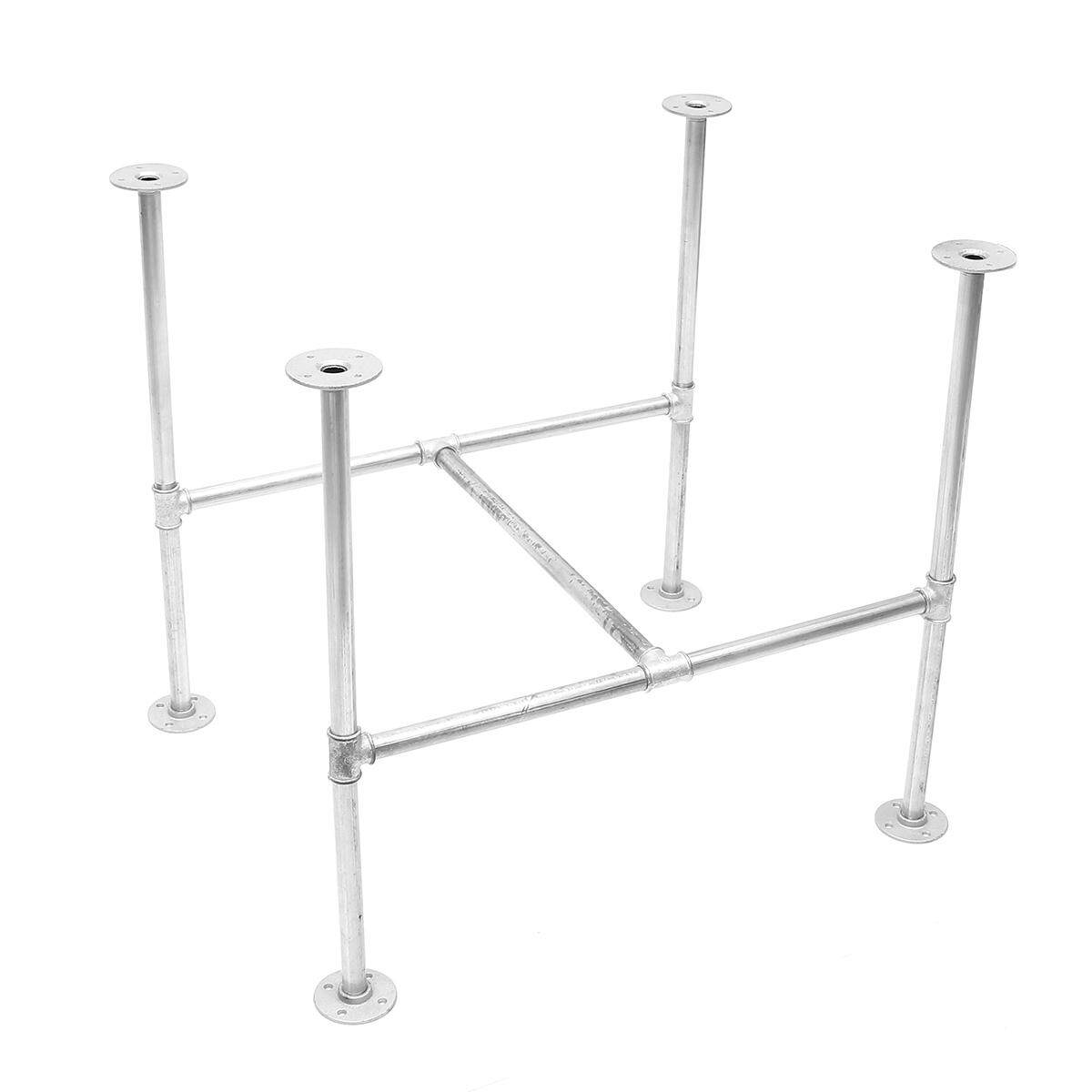 GALVANISED METAL PIPE TABLE BASE INDUSTRIAL DINING KITCHEN GARDEN TABLE DIY BAR(120cm)