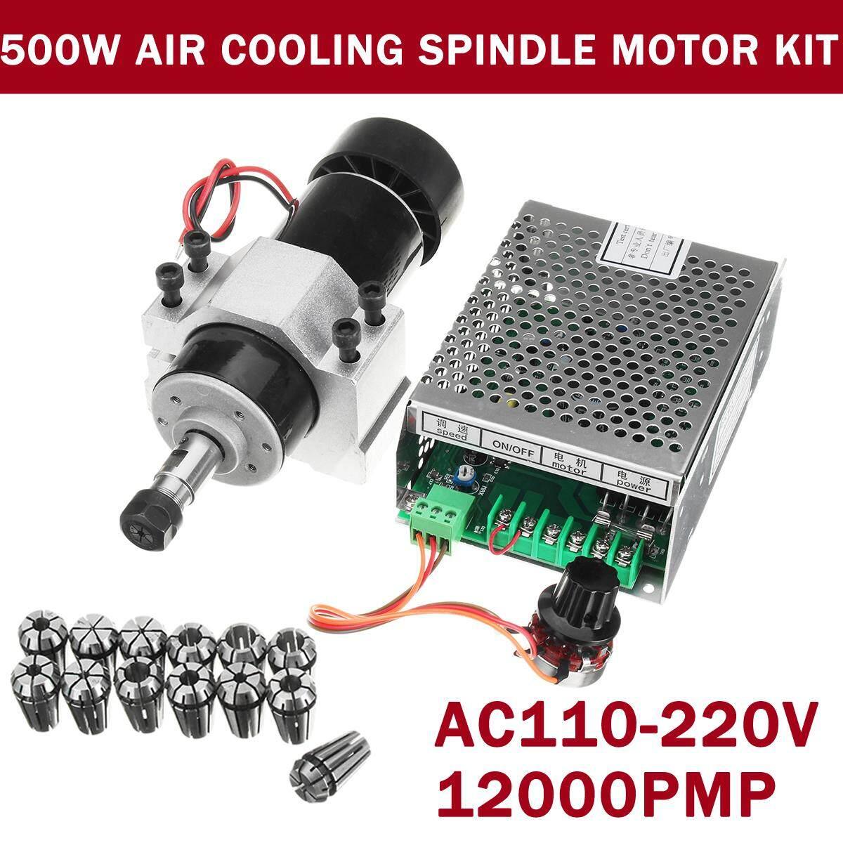 110 V-220 V CNC 500 W AC Motor Spindle + 52 Mm Klem + Kecepatan Gubernur ER11 -Intl