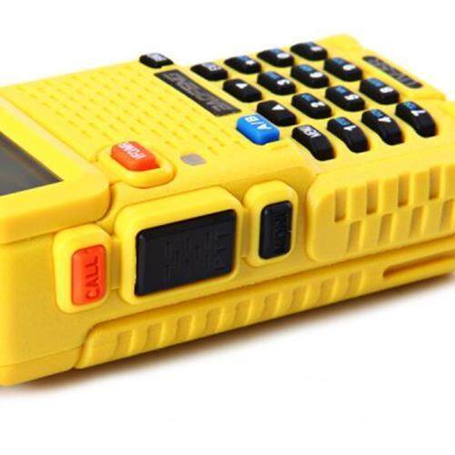 BAOFENG BF-UV5R VHF / UHF DUAL BAND FM TRANSCEIVER LCD DUAL DISPLAY TWO WAY RADIO WALKIE TALKIE INTERPHONE (YELLOW), Yellow