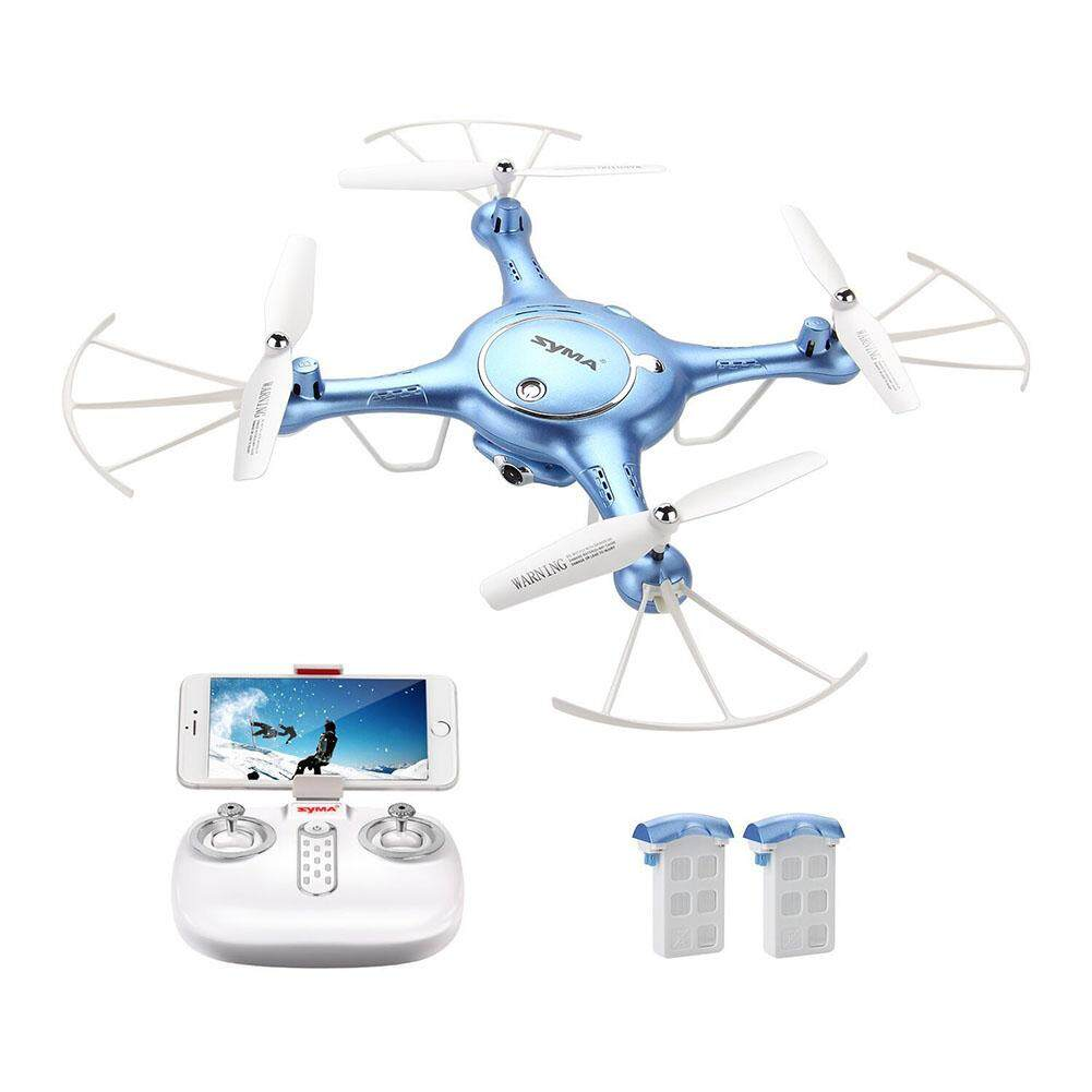 Veecome Bulat Lipat WIFI 4-Axis Pesawat Udara Tekanan Tinggi Tetap Remote Control HD Fotografi Udara Mainan Model RC- putih 0.3MP Kamera Wifi