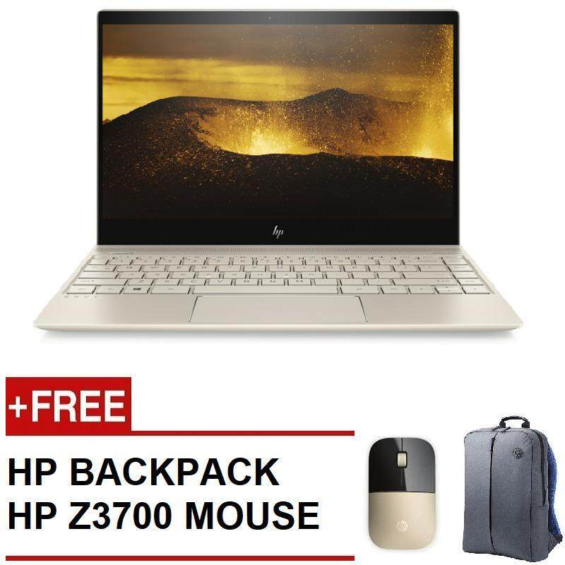 HP ENVY 13-AD100TX NOTEBOOK(I5-8250,8GB,256GB SSD,MX150-2GB,W10,13.3,GOLD) FREE HP Z3700 WIRELESS MOUSE + HP BACKPACK Malaysia