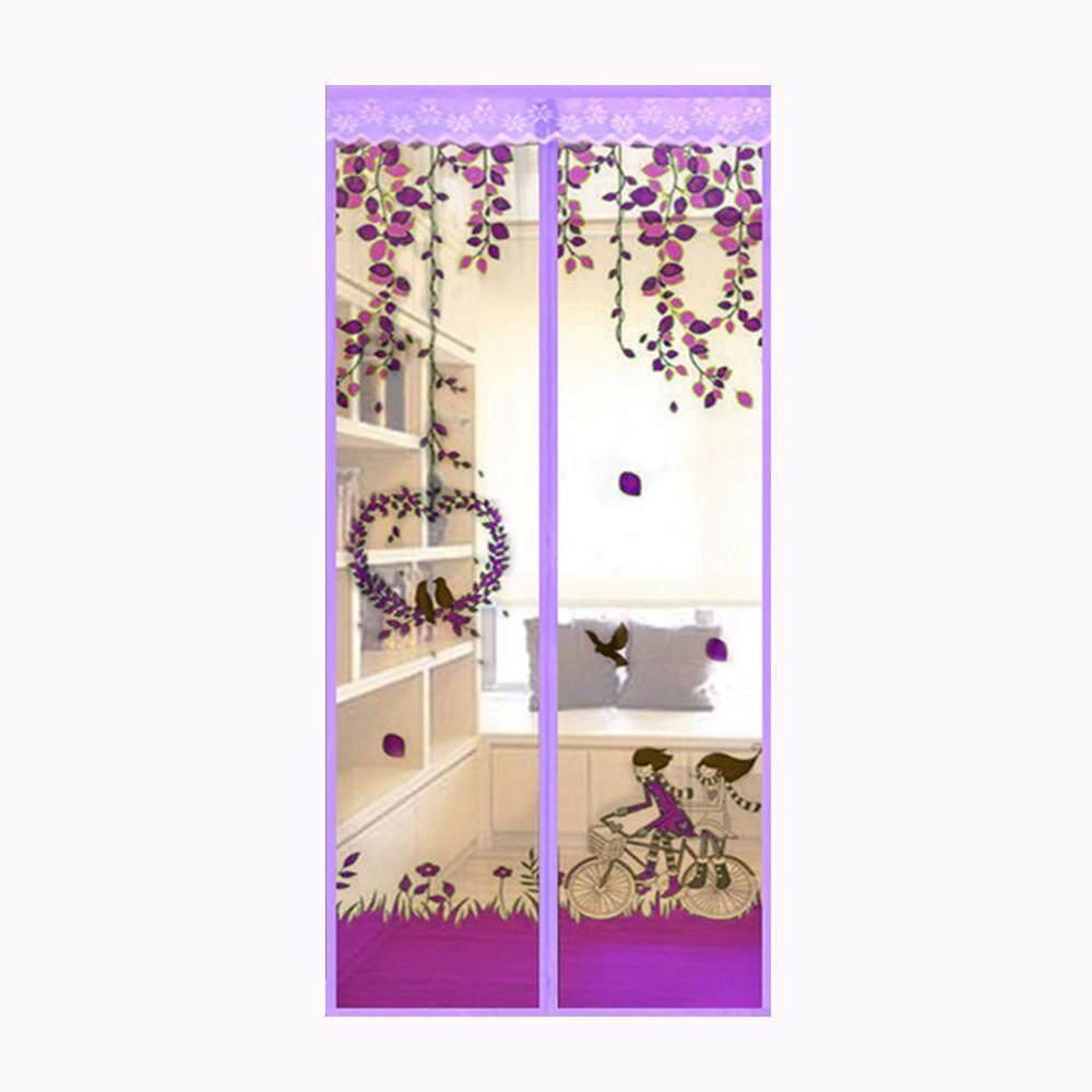 WAWNHENG Magnetic Mosquito Net Screen Door Mesh Screen Curtain Door Curtain Net,Purple